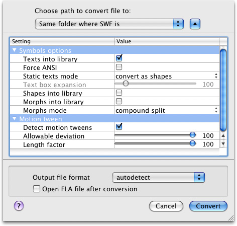 Online and free MP4 to SWF converter