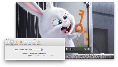 SWF & FLV Player for Mac by Eltima Software.
